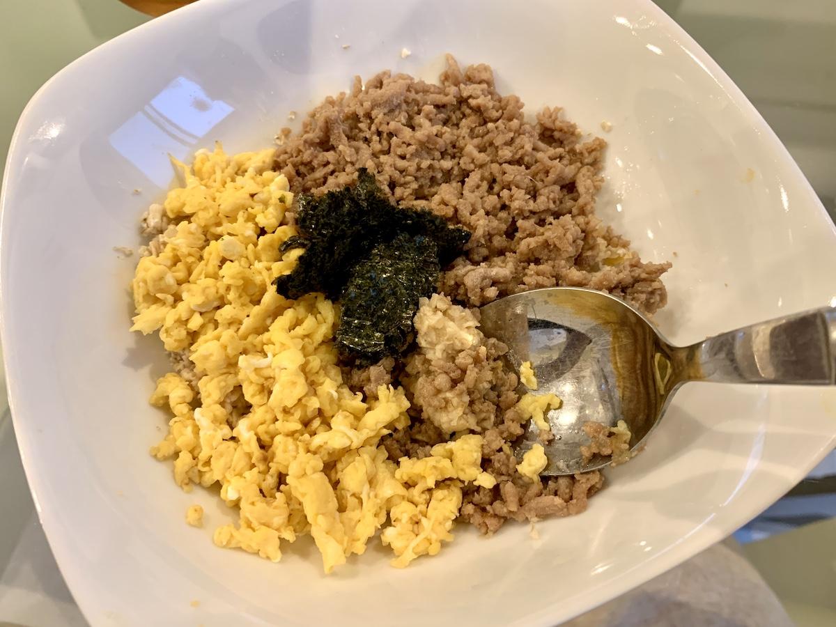オートミール 米化×二色丼