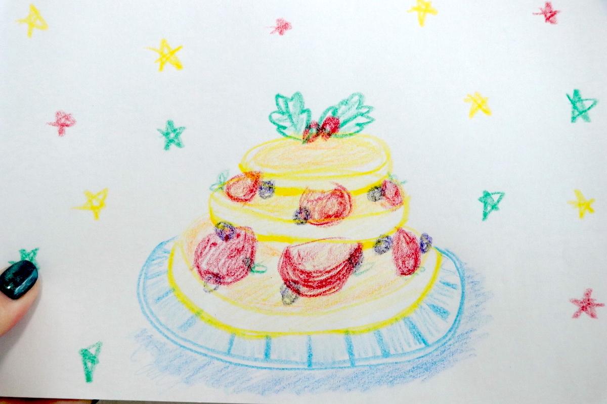パンケーキクリスマスケーキ理想